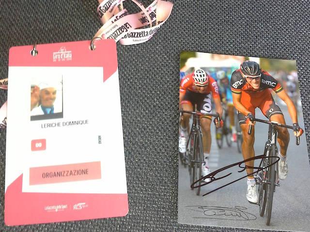 I cimeli della corsa rosa donati a Dominique