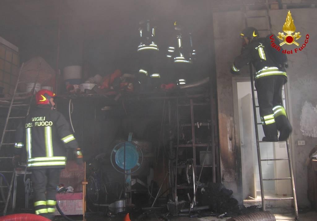 incendio Samarate 25 giugno 2015
