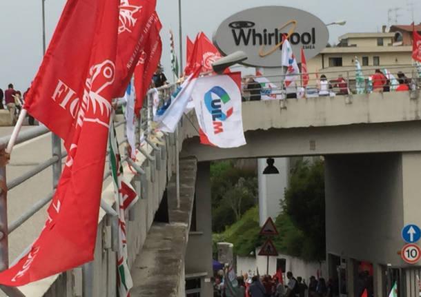 Whirlpool, la manifestazione in diretta