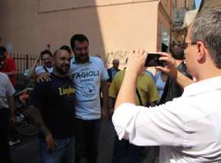 Matteo Salvini a Saronno per Alessandro Fagioli