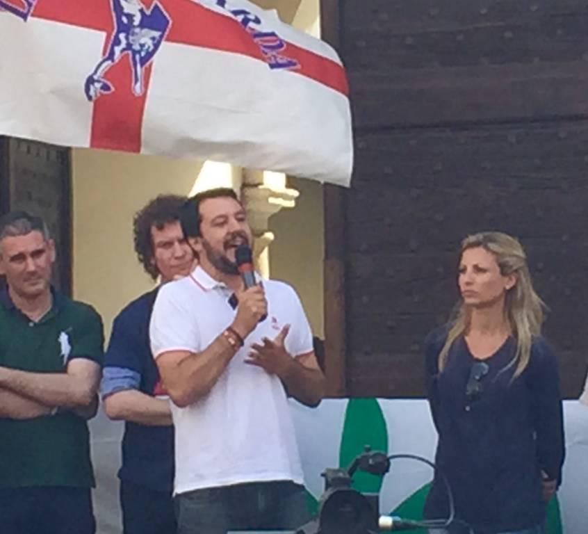 Matteo Salvini a Somma Lombardo