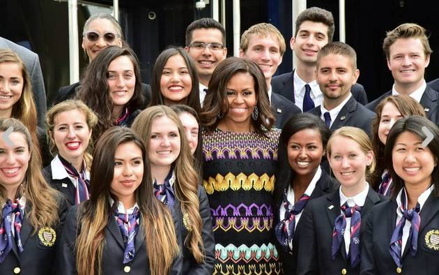 Michelle Obama a Expo in Missoni