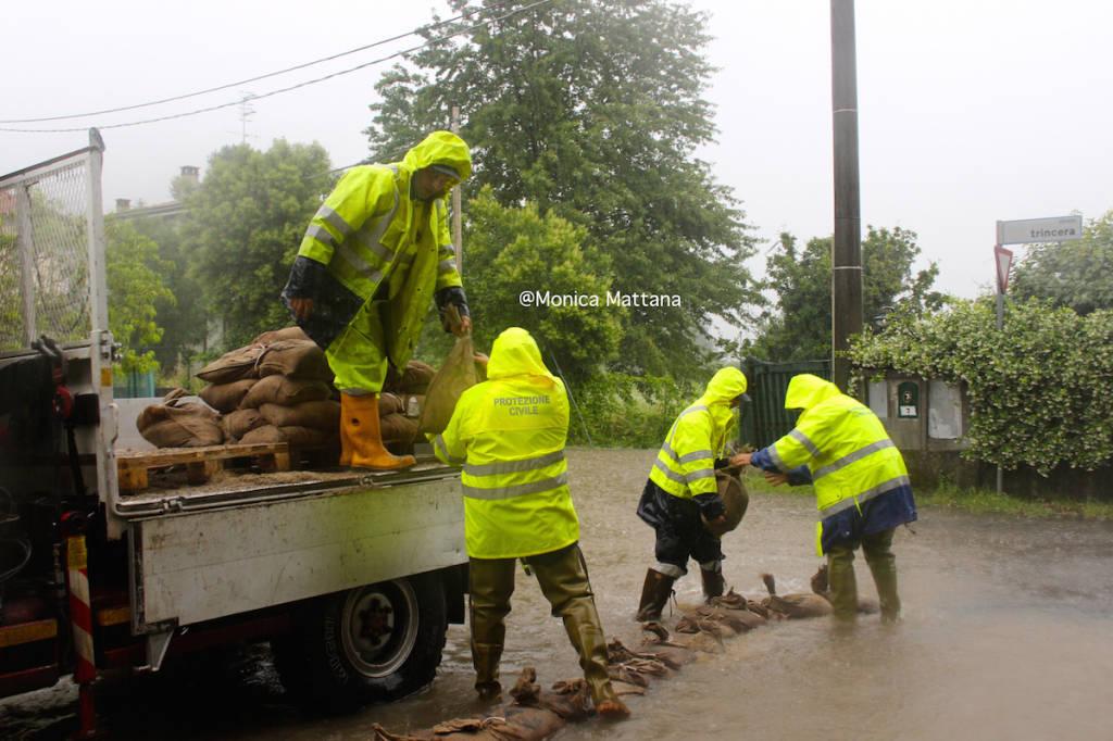 Protezione civile in azione a Laveno