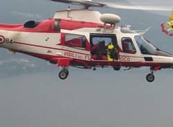 ricerce elicottero vigili del fuoco