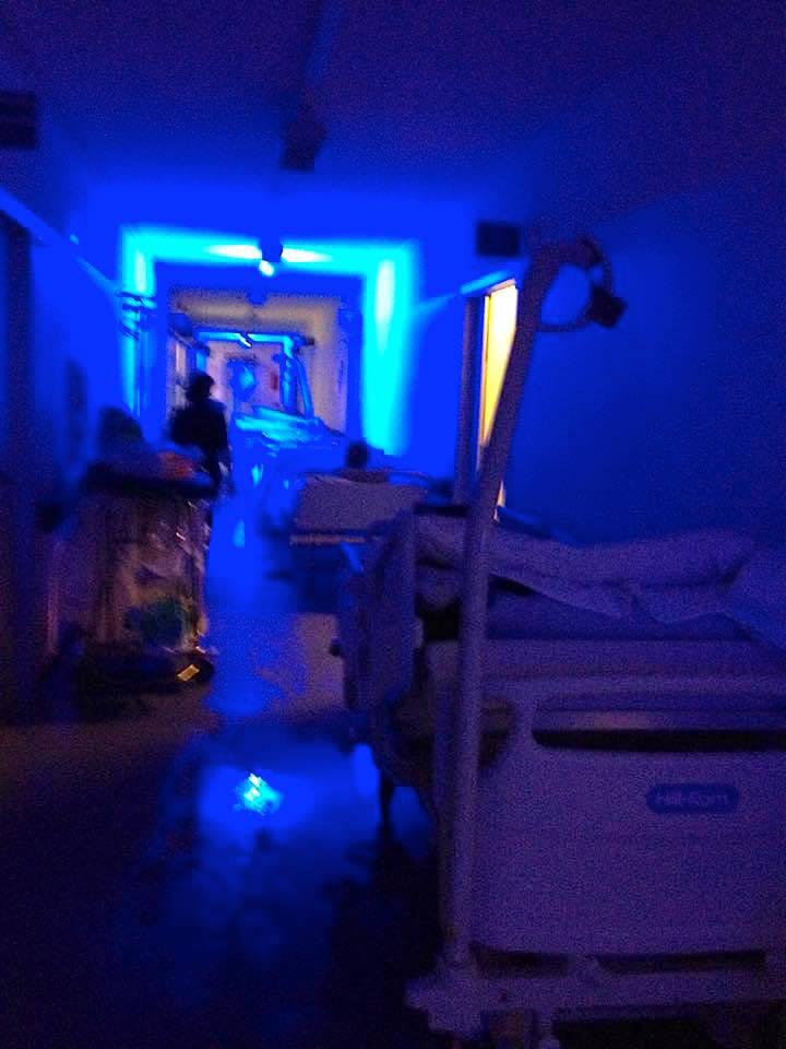 Allagamento nell'ospedale di Angera