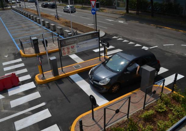 Il parcheggio dell'ospedale di Busto