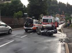 incidente moto Gallarate via del lavoro 24 luglio 2015