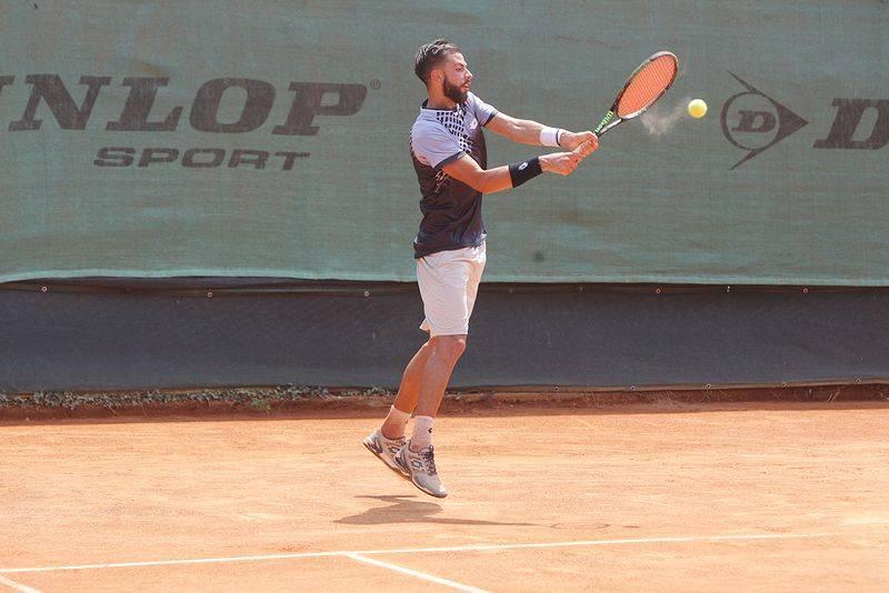 match tra Marcora e Maiga al futures di tennis di Busto