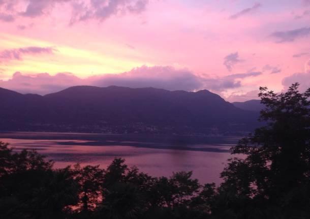 Porto Valtravaglia tramonto