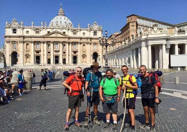 Via Francigena, l'arrivo a Roma