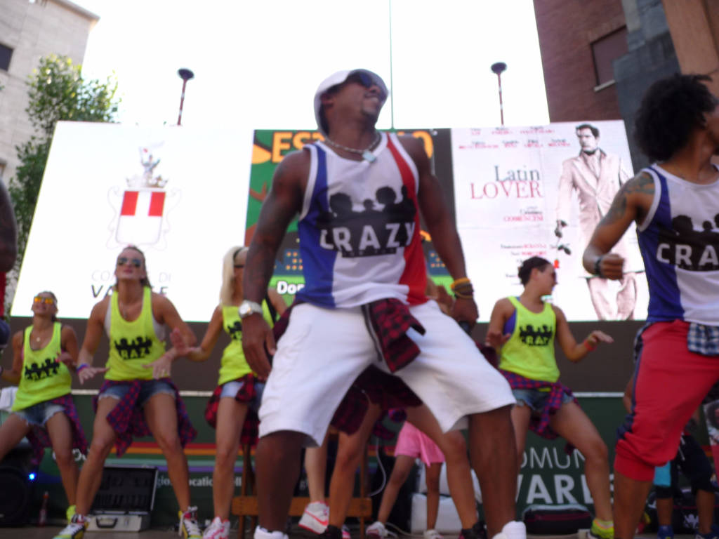 Zumba in piazza Monte Grappa