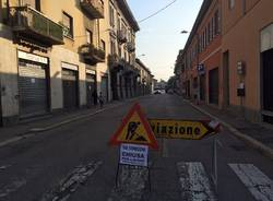 Asfaltatura via Venegoni Gallarate