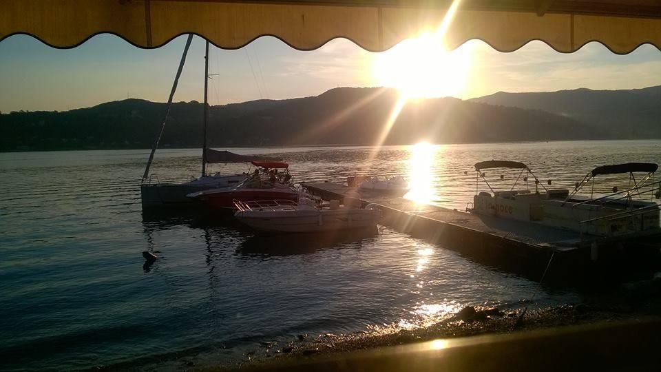 tramonto ad Angera