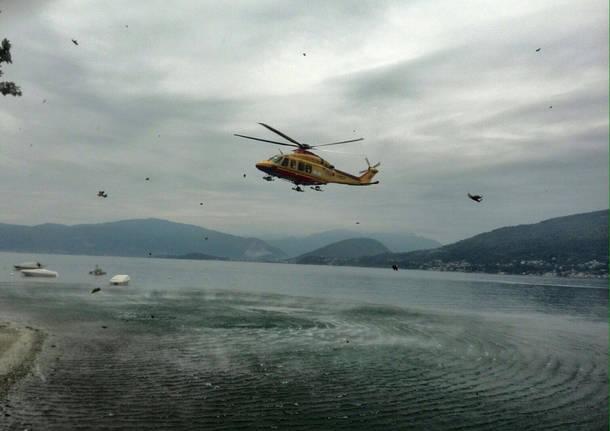 Dus susub,b soccorsi dall'elicottero