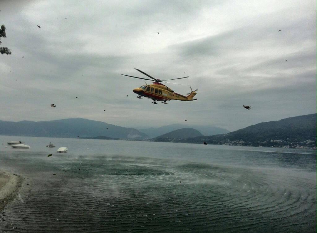 Elicottero Niguarda : Padre e figlio si sentono male in acqua arriva l elisoccorso