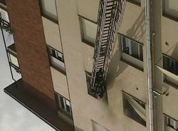 Incendio in via Ferraris a Gallarate