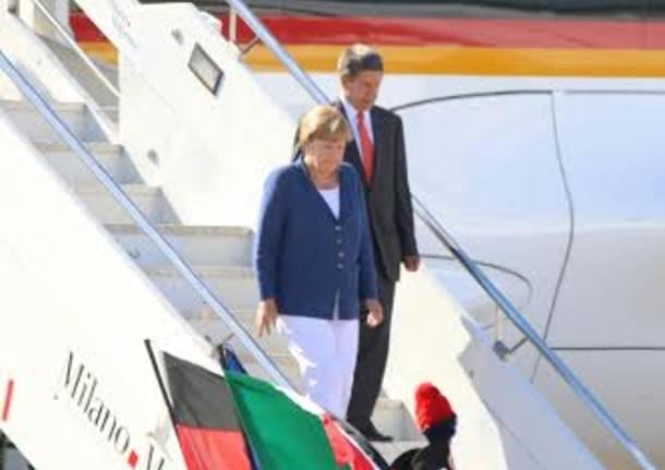 La cancelliera tedesca sbarca a Malpensa