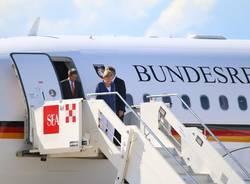 Merkel arrivo a Malpensa