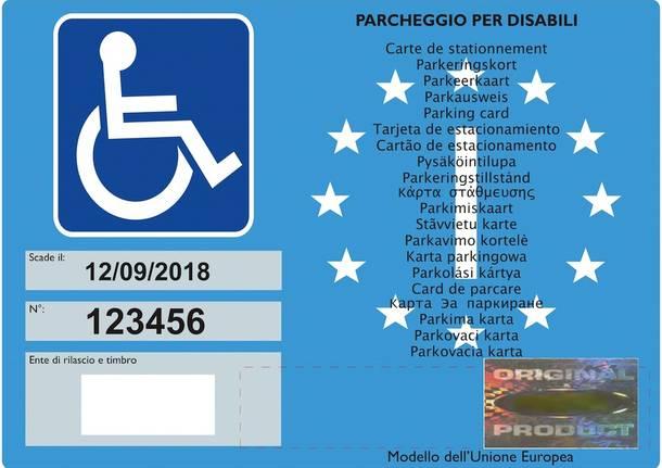 permesso pass disabili invalidi cude europeo