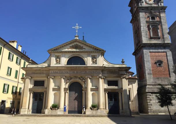 San Vittore Pronto per i funerali di Marco e Nicolò