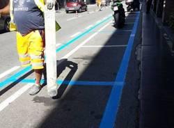 Varese via Manzoni parcheggi