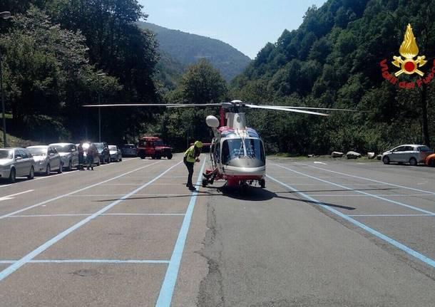 Vigili del fuoco Curiglia con Monteviasco