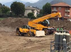 Arcisate Stabio cantiere via Pascoli Induno Olona 15 settembre 2015