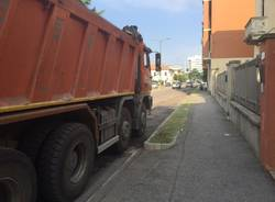 Asfaltatura in via Vespucci a Gallarate
