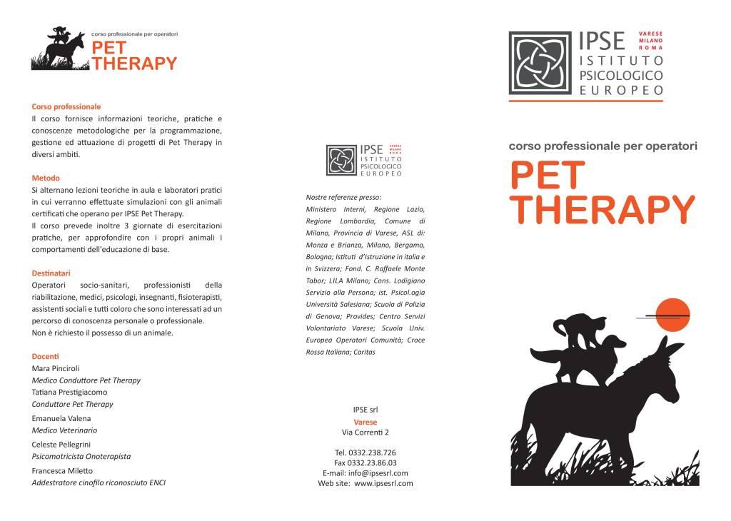 Corso professionale per operatori Pet Therapy