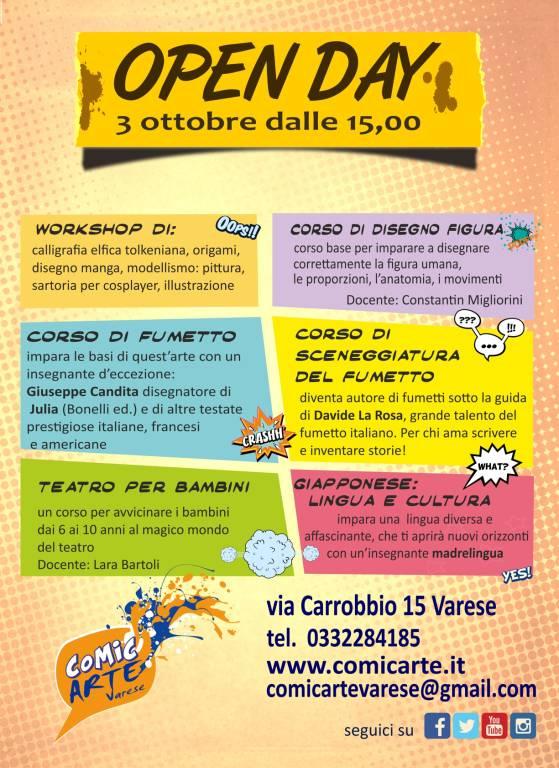 Open Day di ComicArte Varese