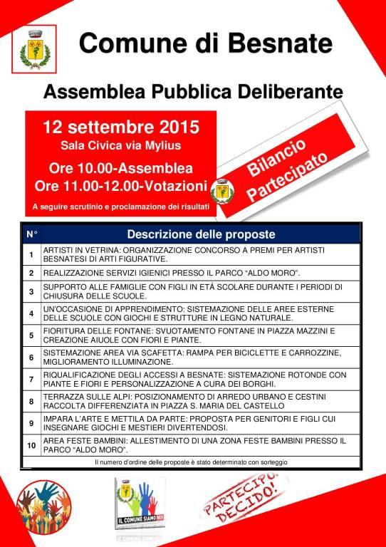 BILANCIO PARTECIPATO: ASSEMBLEA PUBBLICA DELIBERANTE