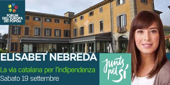 elisabet nobreda forum dell'europa dei popoli villa porro pirelli