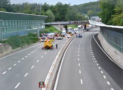 L'elisoccorso in autostrada