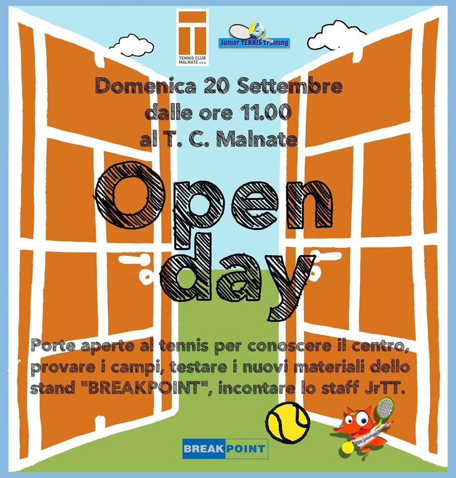 open day tennis club malnate