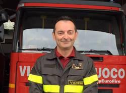 paolo maurizi comandante dei vigili del fuoco saluta la città