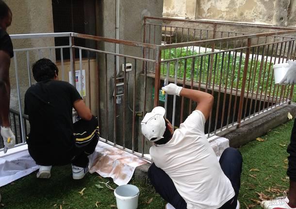 profughi al lavoro volontari richiedenti asilo