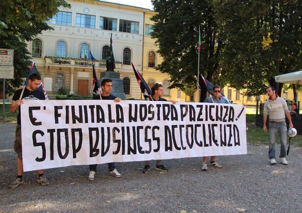 Tradate blindata per doppia manifestazione sui profughi