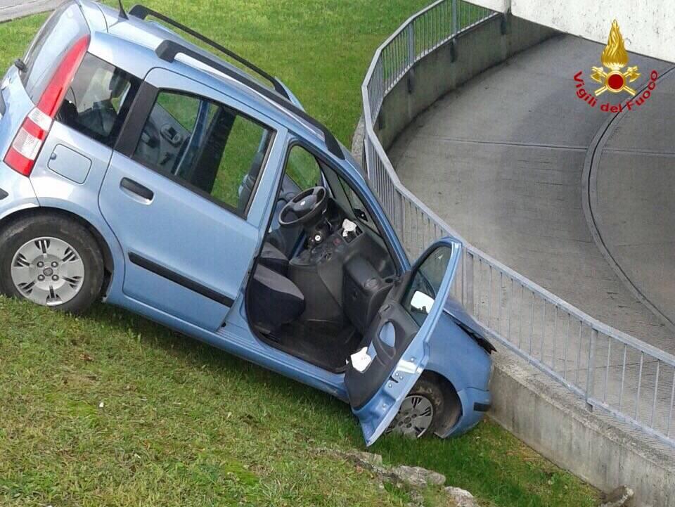 Auto in un fosso