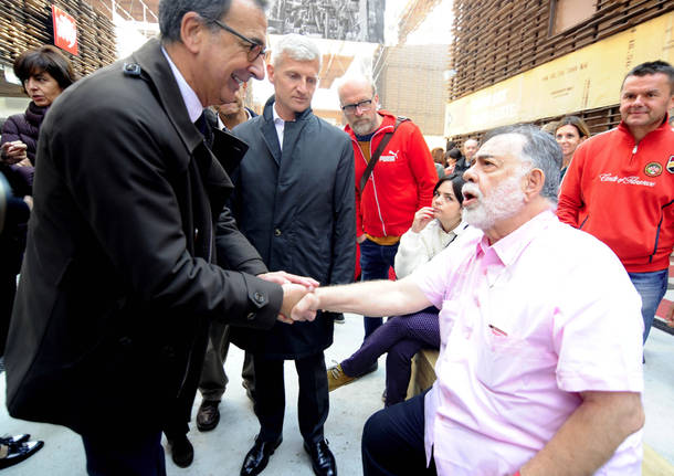 Franco Battiato a Francis Ford Coppola in visita a Expo