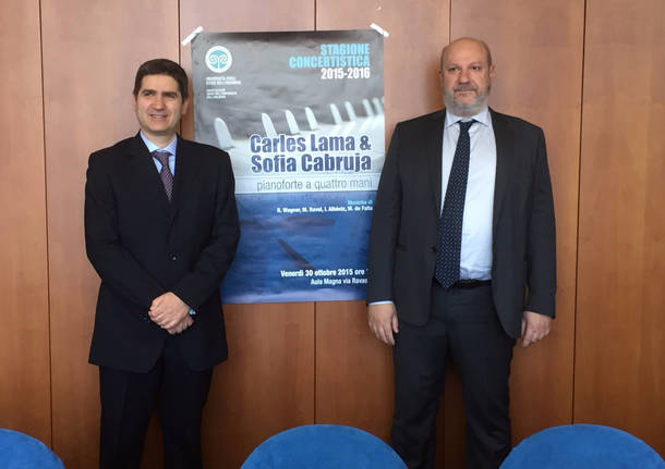 Maestro Corrado Greco con il rettore Alberto Coen Porisini