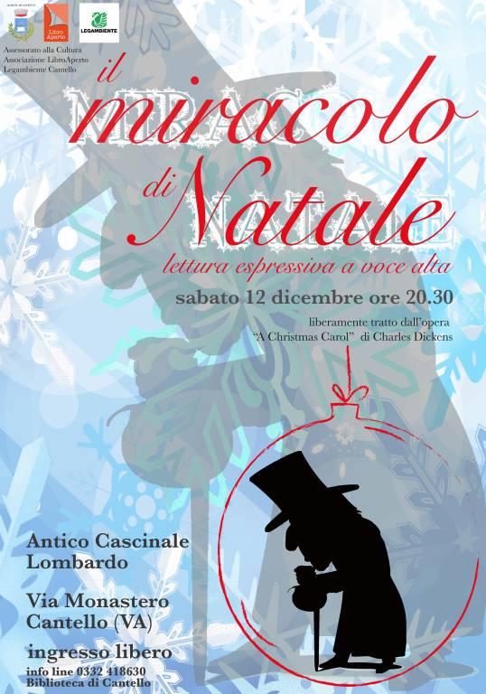 """Il miracolo di Natale...liberamente tratto dall\'opera \""""A Christmas Carol\"""" di C. Dickens"""