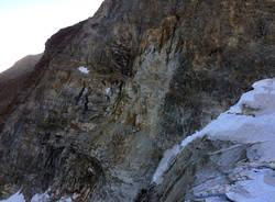 Frane di rocce lungo le alpi