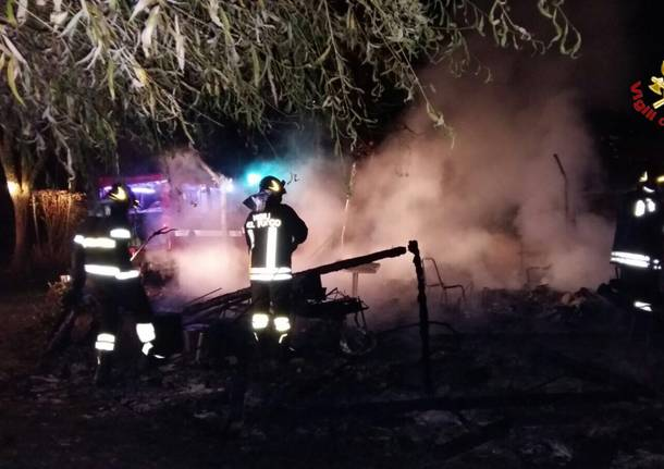 Incendio in due cascinali di Via Novellina