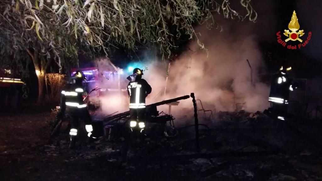 Incendio cascinali Via Novellina