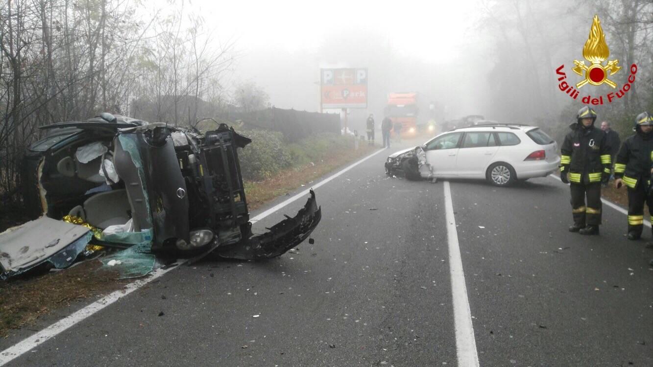 Incidente in via Giusti a Somma Lombardo