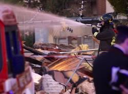 L'esplosione della palazzina a Cantalupo