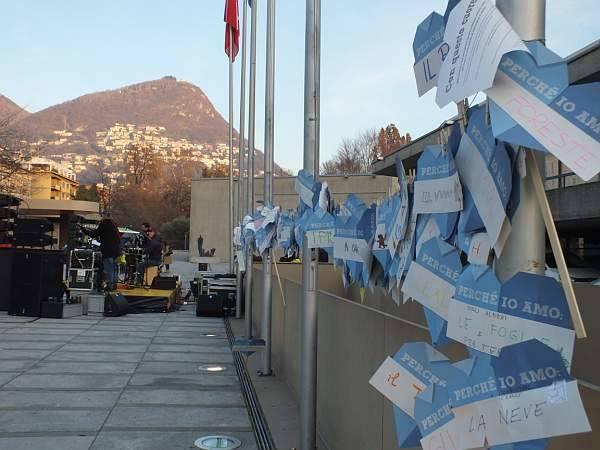 La marcia per il clima a Lugano