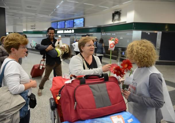Aeroporti: Bologna, per giornata gentilezza gerbera in regalo