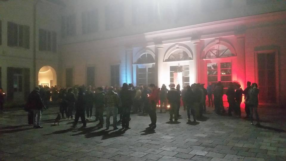 manifestazione attentati parigi castellanza