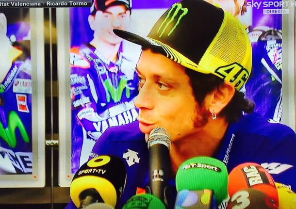 Valentino Rossi conferenza stampa motogp